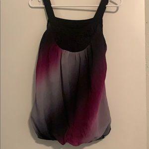 Women's flowy purple/black/gray summer tank top